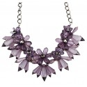 Romantic Crystal Flower Necklace Venecia