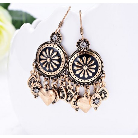 Bohemia Vintage Heart Earrings Gipsy Style