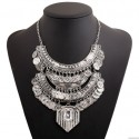 Big Vintage Chunky Coin Bohemian Necklace