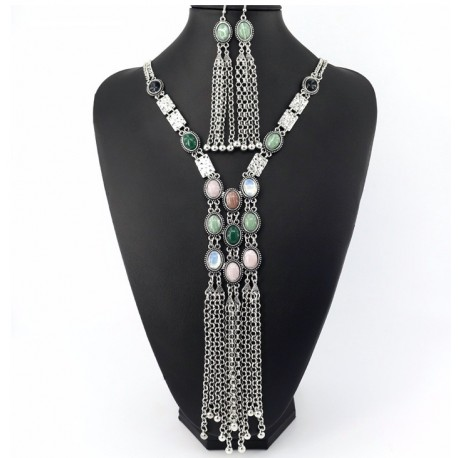 Conjunto Collar y Pendientes estilo vintage Siracusa