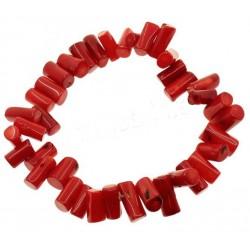 Pulsera de Coral Rojo Tubo