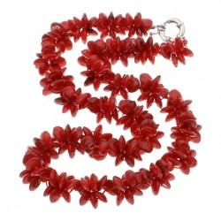 Collar con Flores de Coral Natural