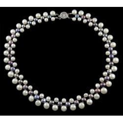 Natural Freshwater Pearl Necklace Two Colors