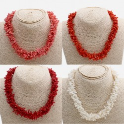 Natural Coral Necklace Different Colors