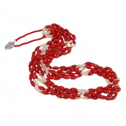 Natural Coral Necklace, with Nylon Cord