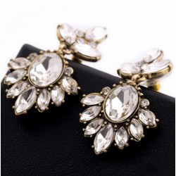 Vintage Earrings with Crystal Insert Rhinestone