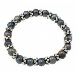 Black Freshwater Cultured Pearl Bracelet