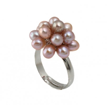 Freshwater Pearl Finger Ring Champagne Rosé