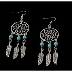 Vintage Silver Plated Dream Catcher Earring