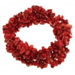 Pulsera de Coral Rojo natural