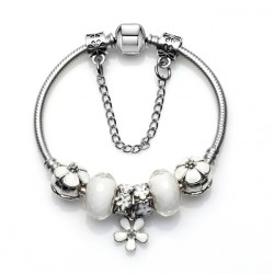 Flower Charms European Style Bracelet
