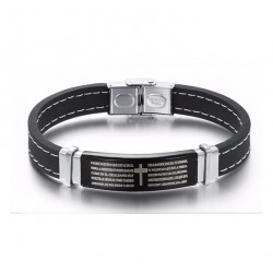 Stainless Steel Silicone Bracelet for Men