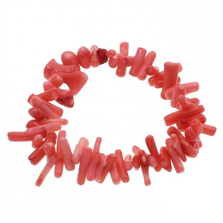 ahorrar completamente elegante comprar barato Pulsera elástica de coral rosa auténtico