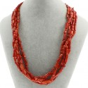 Natural Cylinder shape Coral Beads Multilayer Necklace