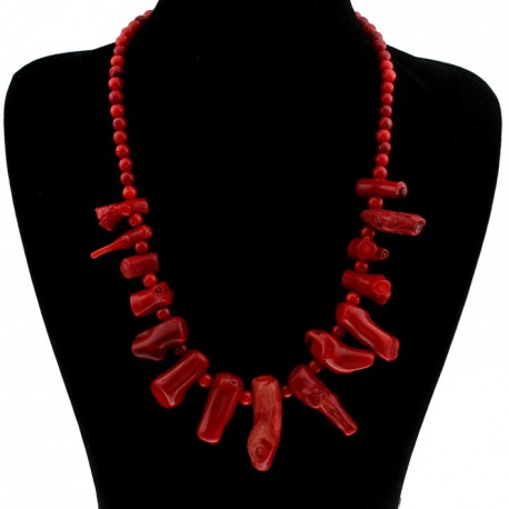 Necklace with irregular maxi coral pendants necklace with natural irregular maxi coral pendants mozeypictures Images