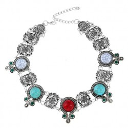 Ethnic Turquoise Retro Style Necklace