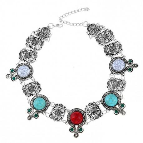 Ethnic Turquoise Retro Style Necklace