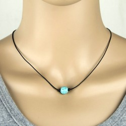 Natural Turquoise Stone Bead with Nylon Cord