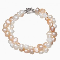 Freshwater Cultured Pearl Bracelet with Two Layers