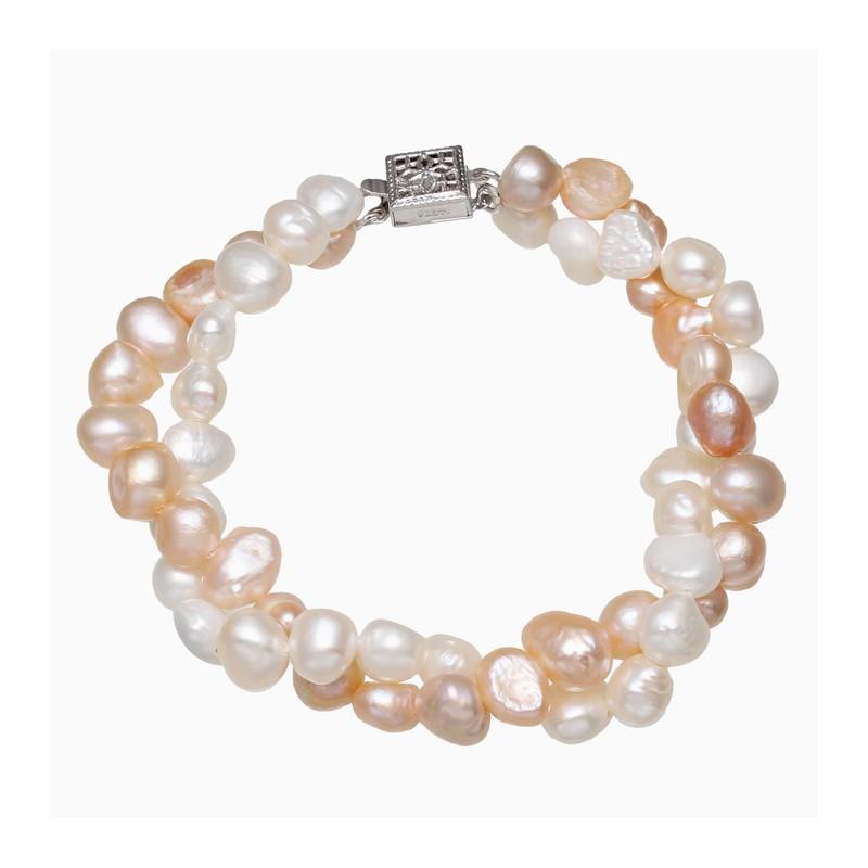 f636012830dd Pulsera de cuentas con doble vuelta elaborada con perlas naturales