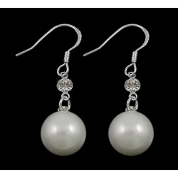 White Sea Shell Drop Earring