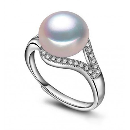 Ajdustable Freshwater Cultured Pearl Ring