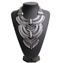 Big Chunky Necklace Ethnic Style Chauen