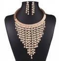 Golden Set Necklace and Earrings Bermudas