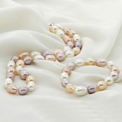 Natural Freshwater Pearl Jewelry Set Bracelet & Necklace