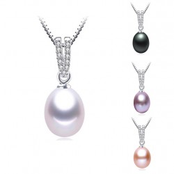 Natural Waterdrop Pearl pendant Necklace