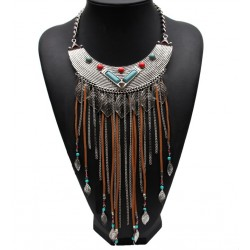 Indian Tribal Ethnic Necklace Sioux