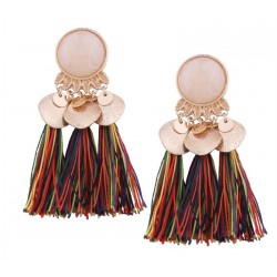 Ethnic Tassel Fringe Earrings Ganges