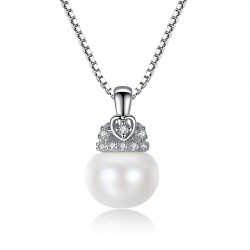 925 Silver & Natural Freshwater Pearl Pendant Necklace