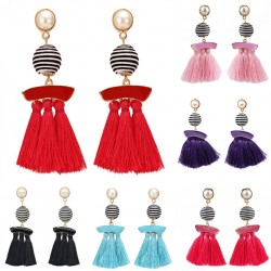 Ethnic Long Tassel Earrings Amazonas