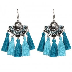 Bohemia tassel vintage drop earrings Tehuantepec