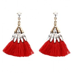Bohemia Crystal With Tassel Dangle Drop Earrings Orinoco