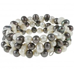 3-strand Natural Freshwater Pearl Bracelet