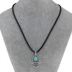 Fatima Hamsa Hand Pendant Necklace