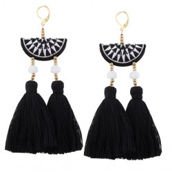 Bohemian Handmade Wedding Drop Earrings Mixteco