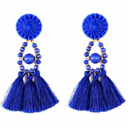 Ethnic Long Tassel Bohemia Earrings Daugava