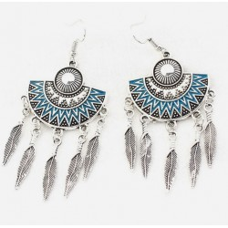 Bohemia Vintage Metal Leaves Earrings