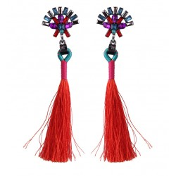 Long Tassel Drop Earrings Yangtsé