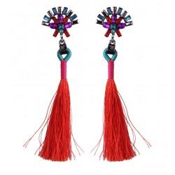 Long Tassel Drop Earrings Yangtsé