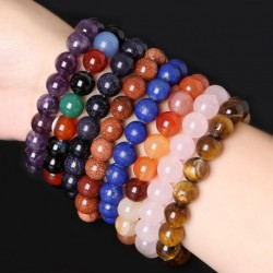 Natural Stone Crystal bracelet 10mm