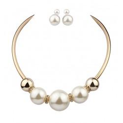 Conjunto collar y pendientes con Maxi perlas Alcudia
