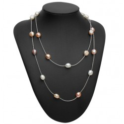 Freshwater Multicolor Pearl Long Necklace