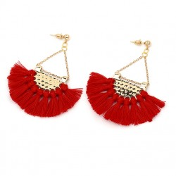 Long Tassel Fringe Earrings, various colours, Liao