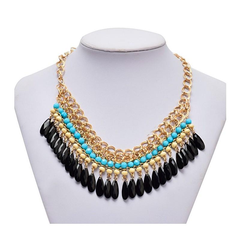 Collar egipcio con piedras de color - Piedras para collares ...