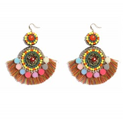 Handmade Bohemian Tassel Drop Earrings Chixoy