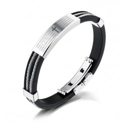 Silicone Bracelet with Stainless Steel Clasp